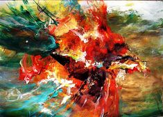 Dan Bunea, large living abstract paintings - My collections of paintings