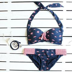 Seafolly | Riviera Coast Soft Cup Halter || The word to describe this sexy, retro top? Fireworks. The shape provides great side coverage while the center tie provides pin-up-worthy lift.