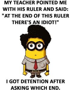 Funny Minion Joke About Students vs. Teacher