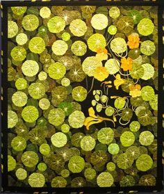 """quilt. (""""Garden Nasturtium"""" by Jungsun Jung)"""
