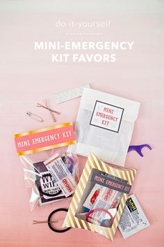 How to make your own mini-emergency kits!