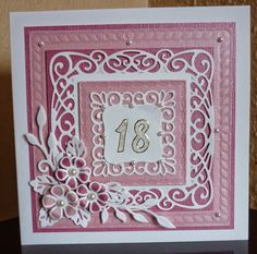 Sue Wilson's New York Collection - Union Square Die 18th Birthday Cards, Handmade Birthday Cards, Handmade Cards, Hand Made Greeting Cards, Making Greeting Cards, Card Making Inspiration, Making Ideas, Tarjetas Stampin Up, Hexagon Cards
