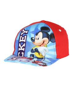 Look what I found on #zulily! Red Mickey Mouse Baseball Cap #zulilyfinds