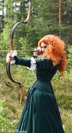 Merida Brave Cosplay Archery Disneyprincess