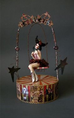 Circus Girl On A Swing - Nicole West Fantasy Art