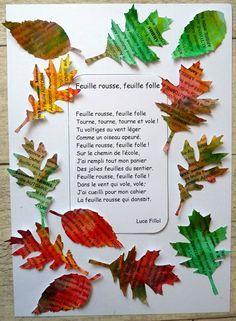 Comptine L'automne grelotte de Chantal Abraham - Paroles ...
