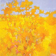 Wolf Kahn Orange, Yellow, and Blue  Berta Walker Gallery - Contemporary Fine Art in Provincetown