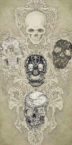 Skull Art by Takato Yamamoto ☠️