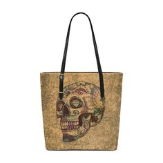 grunge skull A by JamColors Euramerican Tote Bag/Small (Model 1655)
