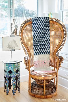 """This home is the source of some serious chair-spiration! Get to know this luxury rental better by clicking the link in our bio. Peacock Chair, Living Spaces, Living Room, Dream Rooms, Wingback Chair, Home Decor Inspiration, Decoration, Wicker, Accent Chairs"