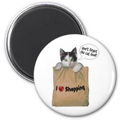 A cute reminder of the important things 😻 Round Magnets, Paper Cover, Pet Gifts, Cat Food, Don't Forget, Recycling, Shapes, Cool Stuff, Pets