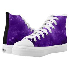 ece3f740e677 Purple Galaxy high top tennis shoes  shoes  hightops  fashion  giftideas High  Top