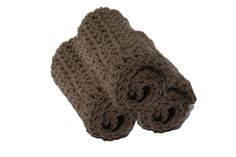Scrub up the little one with handmade crochet comfort washcloths #crochet #brown #baby