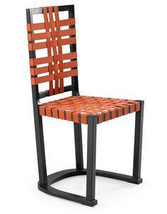 Axel Einar Hjorth; Lacquered Wood and Leather 'Futurum' Chair for Nordiska Kompaniet, 1928.