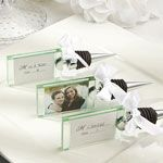 Wedding photo/place card holder wine bottle stopper