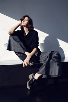 e44000b20ae1 A lovely collaboration between NINObrand and Joseph Balestra. Bridgette  palazzo pants in light wool crape