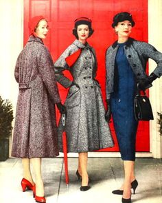 Beautiful!!  These coats are from 1957 ... I want to find a pattern and make one of these!