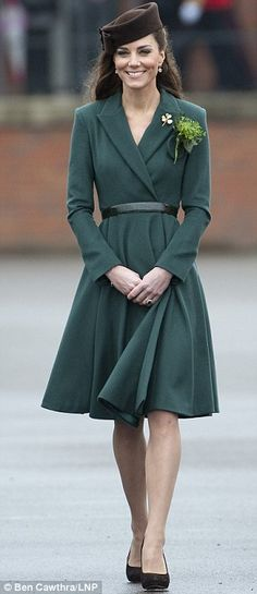 Duchess Kate is back on our radar with this amazing #Emerald coat! Can't wait to see what other fabulous #ColoroftheYear outfits she comes up with in 2013!