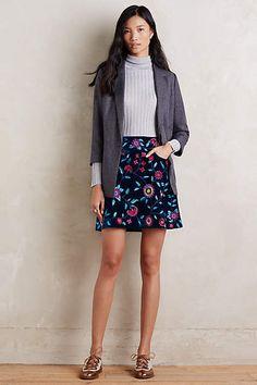 Velvet Vines Mini Skirt - #anthrofave