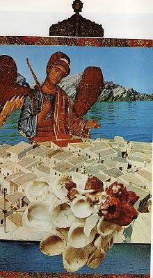 """visual poem"" collage artwork by Odysseas Elytis--κολάζ Οδυσσέα Ελύτη"