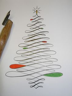 Flourish Friday - Calligraphy Christmas Tree