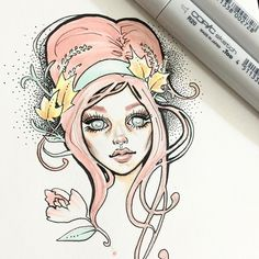 Random Copic & ink sketch ✨ Designs To Draw, Drawing Designs, Drawing Ideas, Character Art, Character Design, Copic Marker Art, Quirky Art, Love Illustration, Dope Art