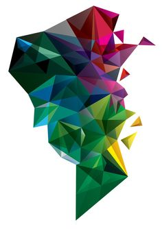 Colorful geometrics!  @Robert Goris Glass