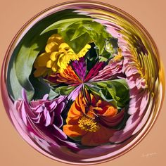 Amazing Circle - Zinnias, Mixed.  Copyright Nancy Kirkpatrick Photography