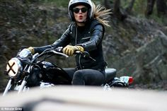 Out on the road: The girls' passion in life is riding their beloved motorcycles