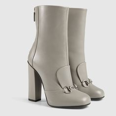 Gucci Women - Leather horsebit ankle boot - 363803BYT001419