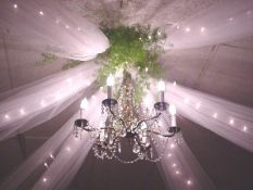 Shop our collection of wedding tulle circles and bolts. Wrap wedding favors and decorate your reception with budget-friendly tulle fabric. Wedding Ceiling Decorations, Tulle Decorations, Prom Decor, Christmas Decorations, Tulle Lights, Fairy Lights, String Lights, Tulle Ceiling, Ceiling Lights