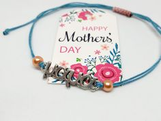 Βραχιολάκι για τη μαμά – HandArtisan Happy Mothers Day, Bracelets, Jewelry, Jewlery, Jewerly, Schmuck, Mother's Day, Jewels, Jewelery