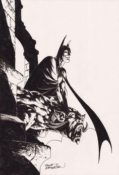 Batman - black and white. Bernie Wrightson.