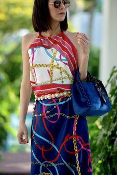 Blue Bag Obsessed @WhoWhatWear