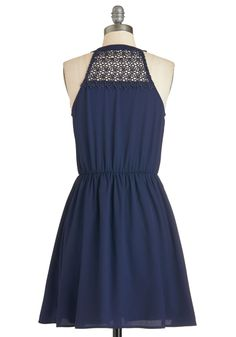 It's Just How I Stroll Dress. What can you say? #blue #modcloth