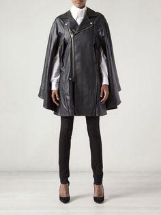 Junya Watanabe Comme Des Garçons Flowy Collar Cape - a leather biker jacket/cape!?! I so need this!