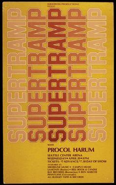 Supertramp Original Concert Poster