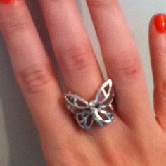 My new butterfly ring! I love butterfly jewelry :)