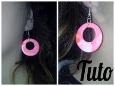 YouTube Clay Videos, Clay Tutorials, Polymer Clay Earrings, Clay Jewelry, Washer Necklace, Drop Earrings, Simple, Jewelry Ideas, Images