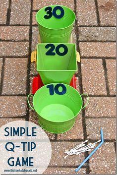 Q-Tip Dart Game Idea at thatswhatchesaid.net