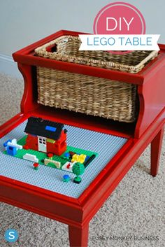 Upcycle and repurpose old furniture by making this fun DIY LEGO play table. Get the instructions: http://www.simplemost.com/brilliant-diy-project-cheap-lego-table/?utm_campaign=social-account&utm_source=pinterest.com&utm_medium=organic&utm_content=pin-description