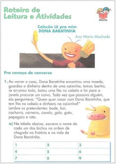 ATIVIDADES PARA APOIO PEDAGÓGICO: 2010 Professor, Winnie The Pooh, Disney Characters, Fictional Characters, Family Guy, 1, Reading Activities, Literacy Activities, Geography Test