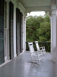 It's technically an exterior, but I'm having a love affair with graceful Southern porches.
