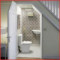 Bathroom designs under stairs toilet under stairs com small bathroom stairs . bathroom designs under stairs Bathroom Under Stairs, Attic Bathroom, Tiny House Bathroom, Bathroom Layout, Bathroom Interior, Small Bathroom, Remodel Bathroom, Basement Bathroom, Toilet Under Stairs