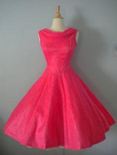 Vintage bright pink dress