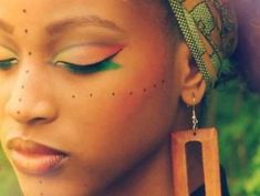 Wedding Make Up: Tribal   VibrantBride.com. Follow us @SIGNATUREBRIDE on Twitter and on FACEBOOK @ SIGNATURE BRIDE MAGAZINE