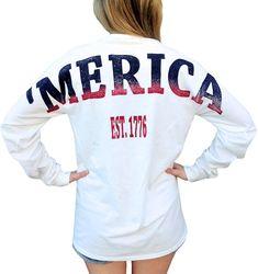 Merica X Comfort Colors Stadium Jersey with front pocket White Medium