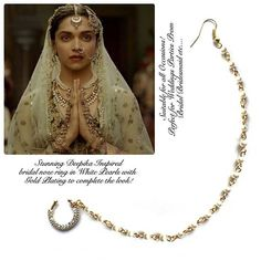 indian nose ring nose ring chain nath bridal nose ring
