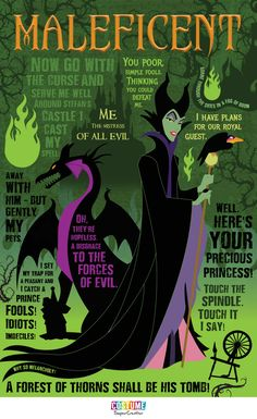 disney villains The Mistress of All Evil: Maleficent Quotable [Infographic] Maleficent Quotes, Disney Maleficent, Sleeping Beauty Maleficent, Disney Sleeping Beauty, Sleeping Beauty Quotes, Disney Memes, Disney Quotes, Disney Villains Quotes, Disney Posters