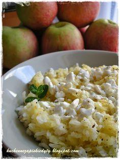 Kuchenne zapiski Edyty: Ryż z jabłkiem i wiejskim serkiem
